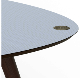 Table Basse Bleu Originale Dessus En Stratifie Compact Annees 50